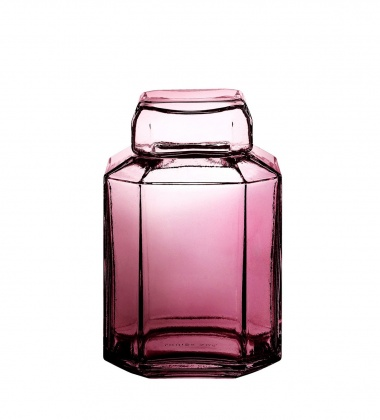 Szklany pojemnik Brilliant Bon Bonniere PARIS H13 cm Amethyst