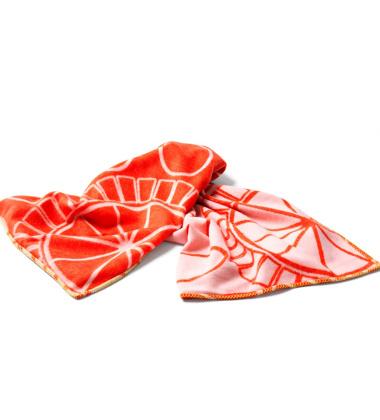 Koc Pled E-Flower 130x180 Różowo-Koralowy
