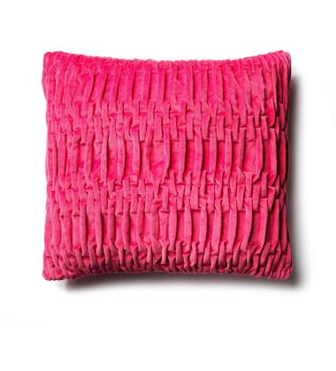 Track Velvet Cushion 50x50 Chilli Red