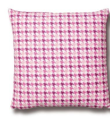 Houndtooth Cushion 50x50 Pude Fuchsia