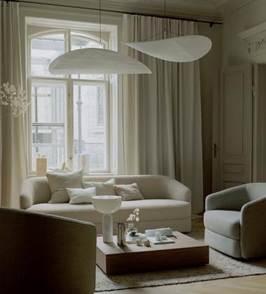 Lampa wisząca TENSE 90 cm Biała