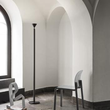 Lampa stojąca stalowa APOLLO 180 cm Black Magic