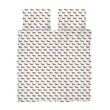Pościel bawełniana w jamniki 200x200 JAMES