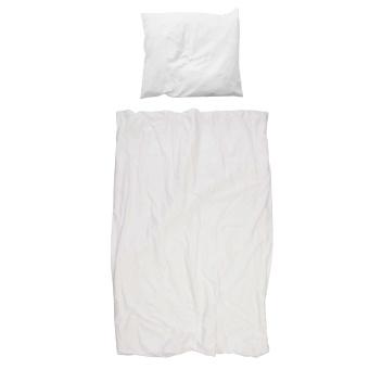 Pościel bawełniana biała 140x200 INVISIBLE MAN