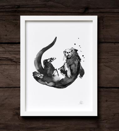 Poster wydra Teemu Jarvi 30x40 OTTER