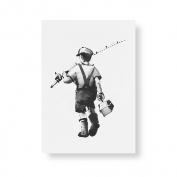 Poster Teemu Jarvi A5 GONE FISHING mini