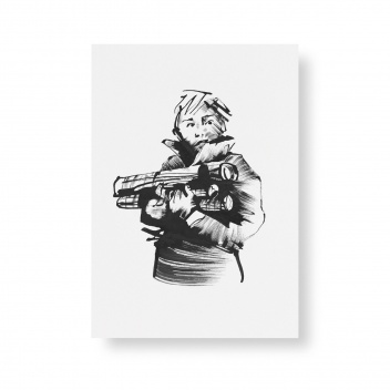 Poster Teemu Jarvi A5 LIGHTING A CAMPFIRE mini
