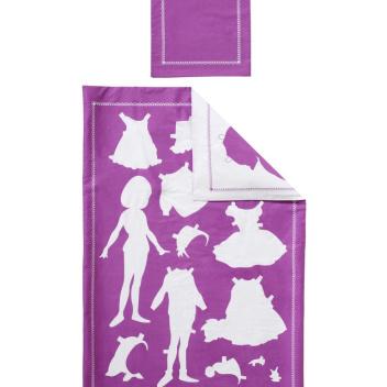 Pościel dziecięca Papper Doll Set 100x135 Fuksja