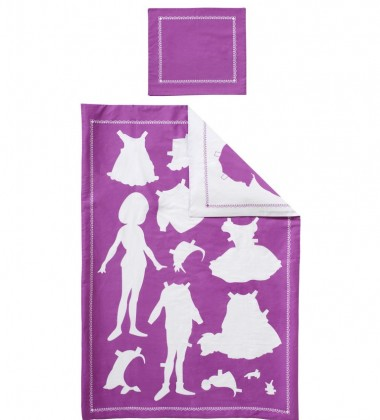 Pościel dziecięca Papper Doll Set 135x200 Fuksja