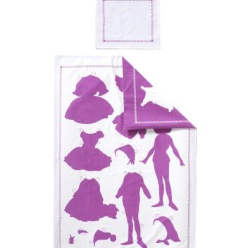 Pościel dziecięca Papper Doll Set 70x100 Fuksja