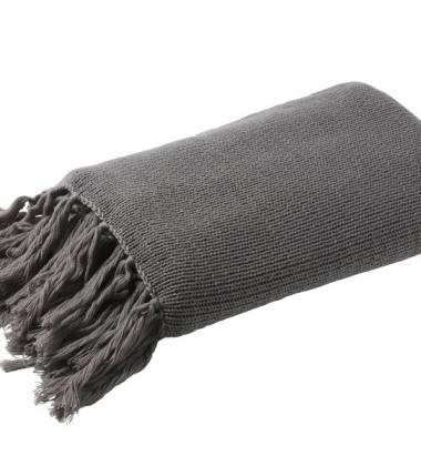 Chunky Knit Pled 130x200 Grey