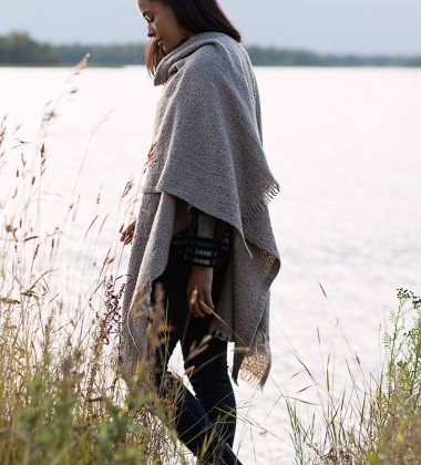 Szal Corona Uni Wool 75x125 Jasny Szary