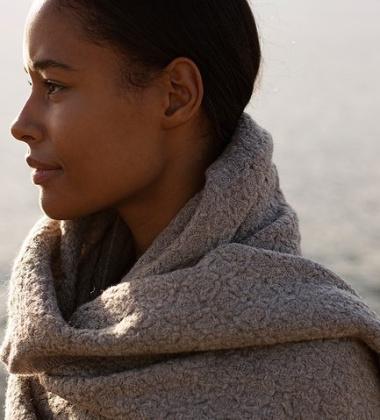 Szal Corona Uni Wool 75x125 Beż