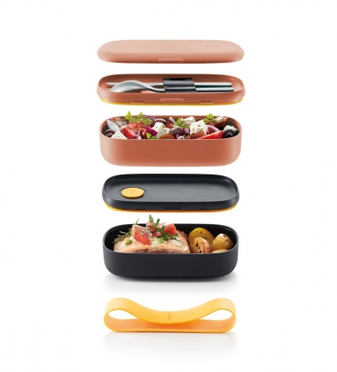 Pojemnik dwuczęściowy Lunch Box TO GO LIMITED Różowy by Lekue