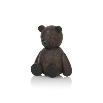 Drewniany Niedźwiadek TEDDY 9 cm Smoked Oak