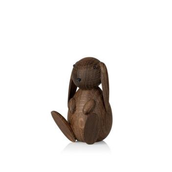 Drewniany Króliczek BUNNY 9 cm Smoked Oak