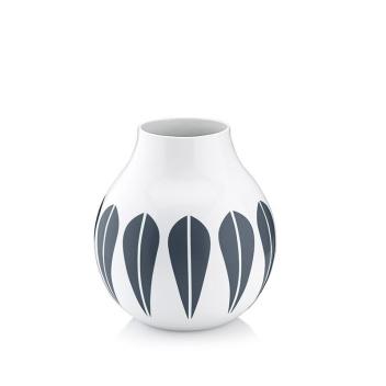 Wazon z porcelany Lotus 17,5 cm Biało-Granatowy