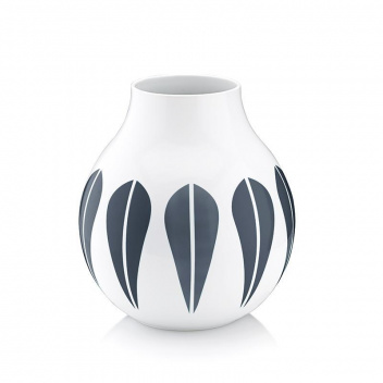 Wazon z porcelany Lotus 21,5 cm Biało-Granatowy