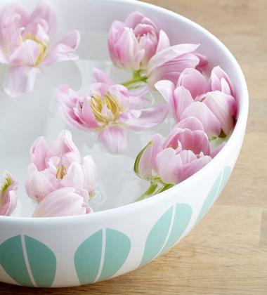 Misa z porcelany Lotus 24 cm Miętowa