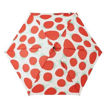 Parasolka składana Mini Manual MANSIKKA Umbrella Red by Marimekko