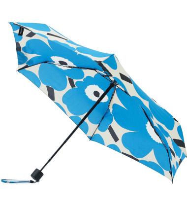 Parasolka składana Mini Manual UNIKKO Umbrella Blue by Marimekko