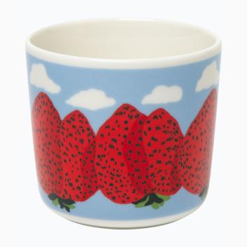 Kubek z porcelany bez ucha 200 ml MANSIKKACUORET Coffee Cup by Marimekko