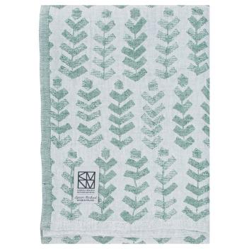 Lniany ręcznik kąpielowy RUUSU X HVITTRASK 95x180 cm Aspen Green
