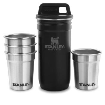 Kieliszki metalowe w etui 60 ml Set 4 ADVENTURE Steel Shots Black by Stanley