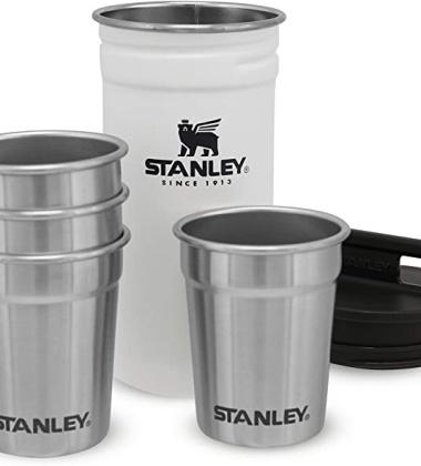 Kieliszki metalowe w etui 60 ml Set 4 ADVENTURE Steel Shots Polar White by Stanley
