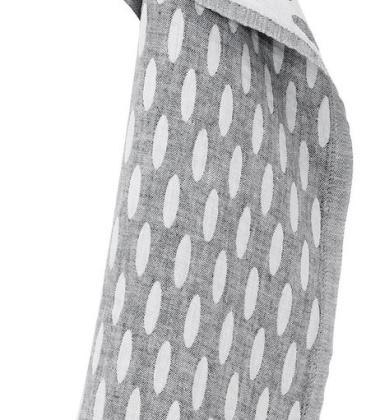 Ścierka kuchenna Helmi 48x70 Biało-Szara