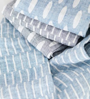 Ścierka kuchenna Helmi 48x70 Biało-Niebieska