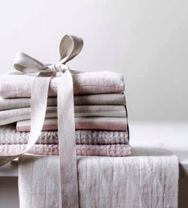 Ścierka kuchenna Triano 48x70 Biało-Różowa