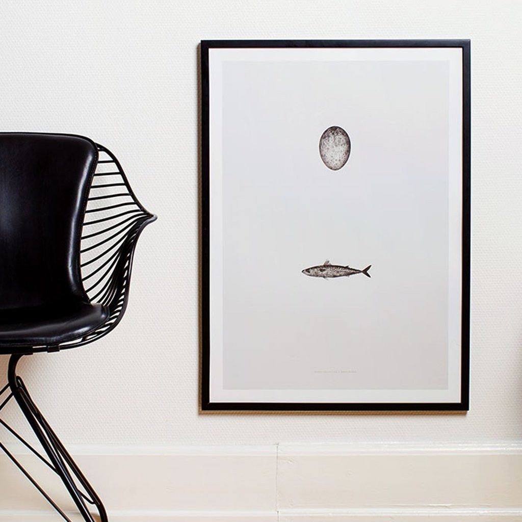swedish mackerel poster 50x70 moaai. Black Bedroom Furniture Sets. Home Design Ideas