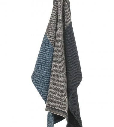 Ręcznik Terva 85x180 Czarno-Multi-Niebieski