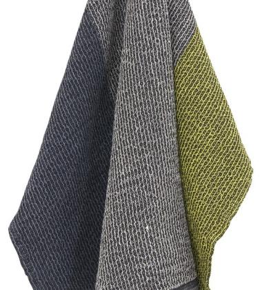 Ręcznik Terva 85x180 Czarno-Multi-Żółty