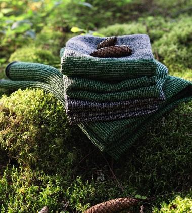 Ręcznik Terva 65x130 Czarno-Zielony