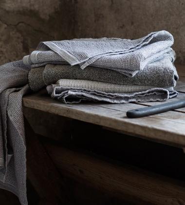Ręcznik Terva 85x180 Biało-Szary