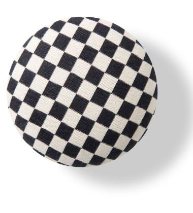 Wieszak ścienny Button-up Checker 10 cm Czarno-Biały