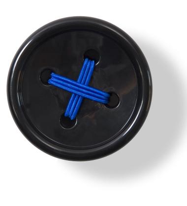 Wieszak ścienny Button-up B2 10 cm Czarny
