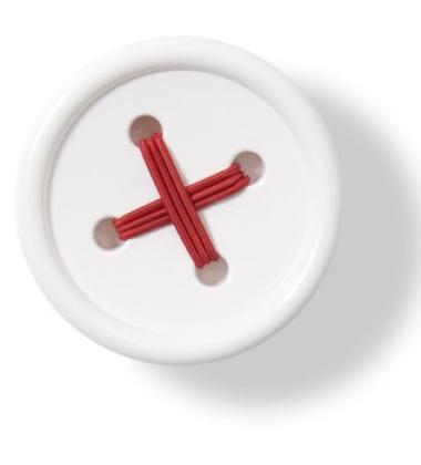 Wieszak ścienny Button-up B2 10 cm Biały
