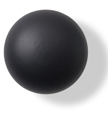 Wieszak ścienny Button-up Skóra 10 cm Czarny