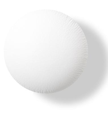 Wieszak ścienny Button-up Skóra 10 cm Biały