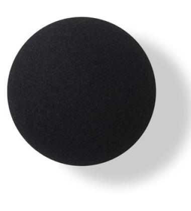 Wieszak ścienny Button-up Divina 10 cm Czarny