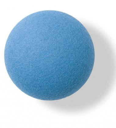 Button-up Wool Hook 10 cm Blue Divina
