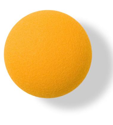 Wieszak ścienny Button-up Divina 10 cm Żółty