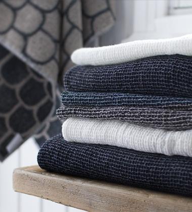 Ręcznik Terva 85x180 Czarno-Lniany