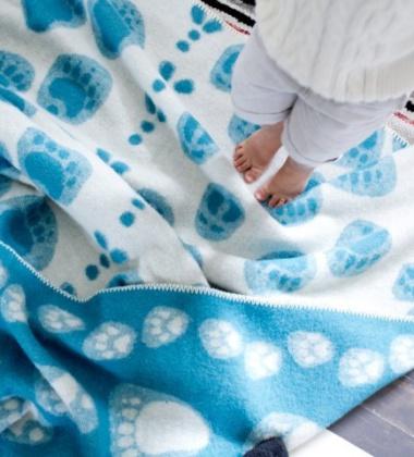 Koc Taivaltajat Wool 130x180 Niebieski