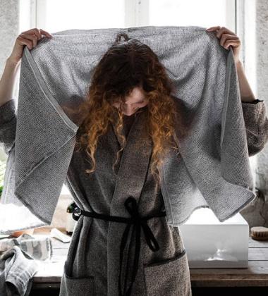 Ręcznik Terva 65x130 Biało-Szary