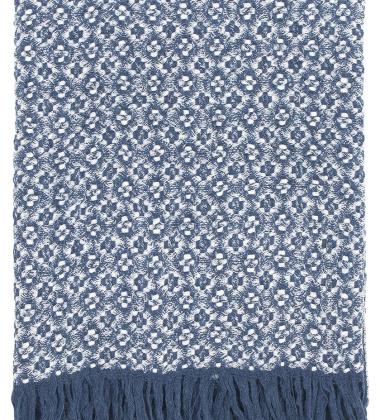 Koc Keto Wool 130x180 Granatowo-Biały
