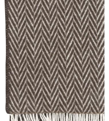 Koc Iida Wool 130x210 Brązowo-Biały